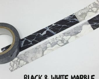 MinusPlus black & white marble tape SAMPLE