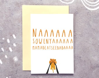 New Baby Lion King Card   A6 Greetings Card   Snowtap