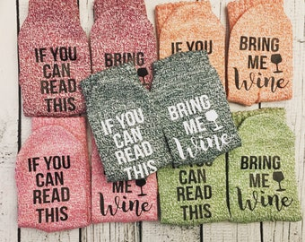 If you can read this socks, Bring Me Wine Socks, Wine Socks, Gifts For Her