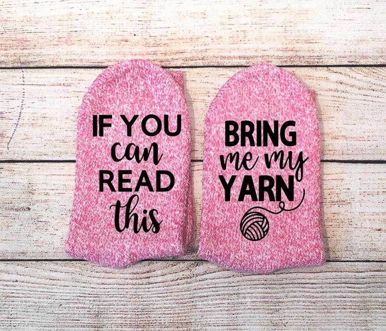 Yarn Socks If you can read this socks Knitting Socks Gifts For Knitters Bring Me Yarn