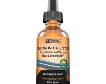 Micronutrients Liquid Drops | Electrolyte Concentrate | Fulvic & Humic Acid | For Energy, Keto, Leg Cramp | Magnesium Sodium Potassium Zinc
