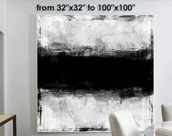 Large Original Abstract Painting Black And White Wall Art Lots Textured Abstract Original Artwork Painting Artwork Abstract Wall Painting