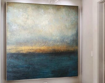 Canvas Painting, Abstract sea, Marine Art, Large acrylic Art, Original Art, Large Abstract Art, Living Room Art, Large Canvas Art
