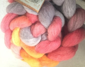Knave of Hearts 4 oz Dyed Cheviot Combed Top
