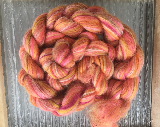 Candy -  4 oz Merino/Tussah Silk Combed Top