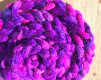 Black Light - Mohair/Wool Carded Sliver 4 oz