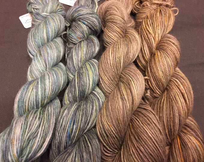Sherwood Forest Series - Hand Dyed Baby Alpaca DK weight yarn 100 grams