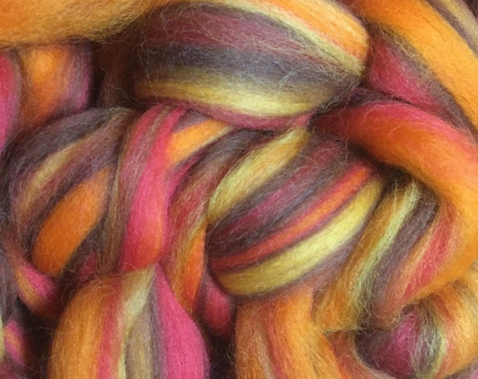 Bonfire - 4 oz merino Combed Top