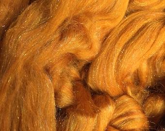 Goldenrod - Merino/Rainbow Nylon combed to spinning fiber - 4 oz