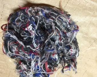 Wool Yarn Bits - Great for carding and crafts priced per ounce