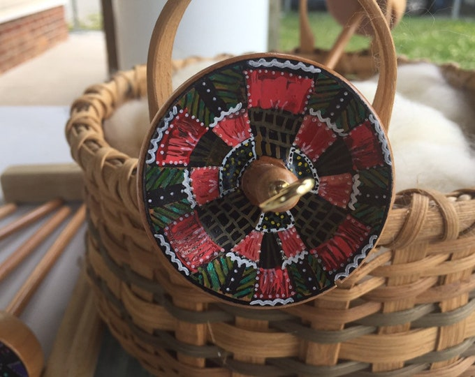 Indian Paintbrush Hand Painted Drop Spindle