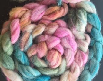 Cotton Candy - 4 oz Alpaca/Silk Combed Top
