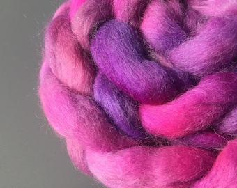 Fraggled 4 oz Australian Cross Wool Combed Top