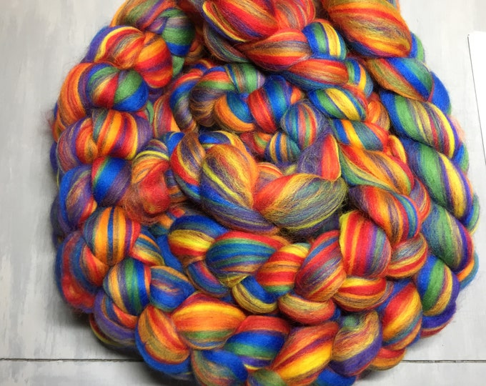 Rainbow Multi Colored Merino Wool Roving