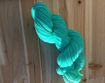 Aquamarine Superwash Merino Double Knit Weight Yarn - Indie Dyed 100 grams 320 yards