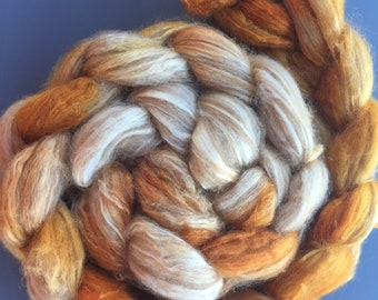 Candy Corn 4 oz Baby Camel/Tussah Silk Combed Top