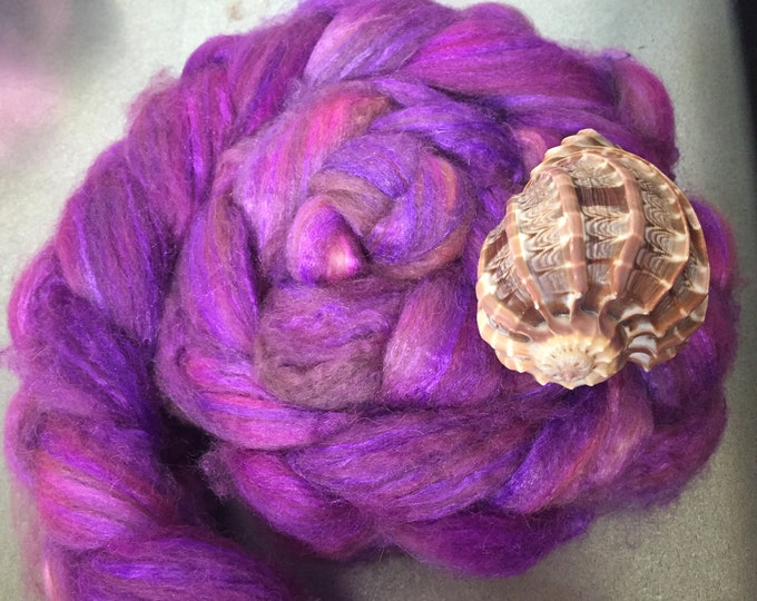 Hot Lips 4 oz Baby Camel/Tussah Silk Dyed Combed Top