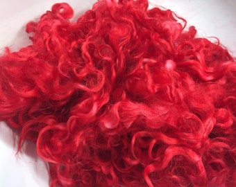 Cherry - dyed cotswold locks