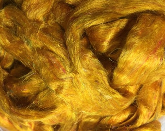 Just Shine Sari Silk Waste Roving by the ounce