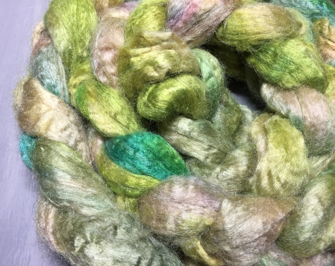 Tropic Thunder Hand Dyed Mulberry Silk Top - 2 oz