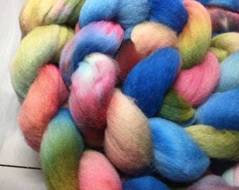 Gumballs! - Hand Dyed Polwarth Wool Top