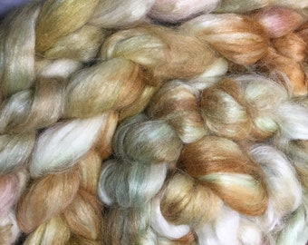 Autumn - Hand Dyed Alpaca Silk Combed Top