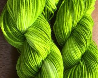 Kermit Superwash Merino Double Knit Weight Yarn - Hand Dyed 100 grams 320 yards
