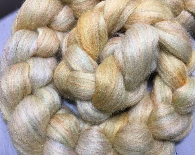 Corn Silk - Hand Dyed Merino/Rainbow Nylon Spinning Fiber