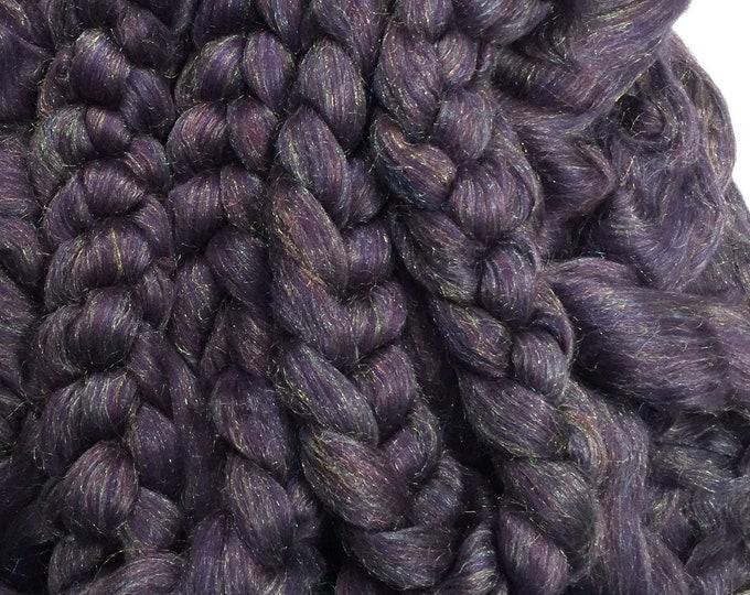 Purple Rain - Merino/Rainbow nylon combed top
