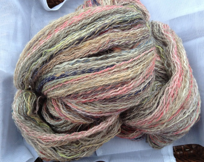 Country Girl  Merino/Silk/Mohair/Dom wool yarn - Handspun 5 oz 2 ply 640 yards fingering weight