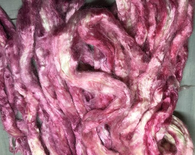Purple Rain Hand Dyed Tussa Silk