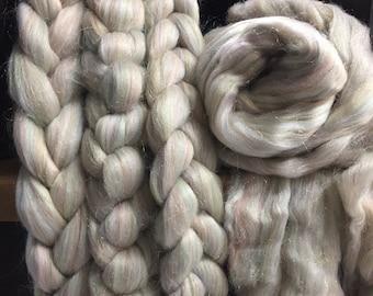 Electric Vibe - Merino/Rainbow Nylon Combed Top