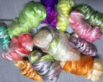 Fruit Salad - Hand Dyed Tussah Silk Variety Pack