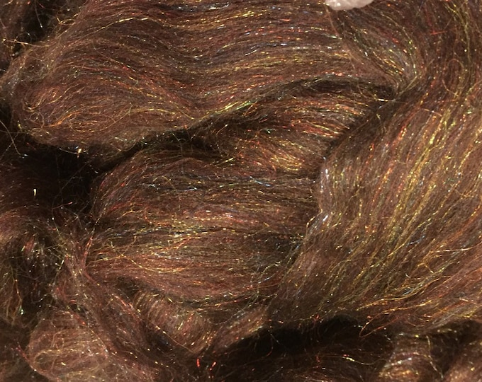 Chocolate Diamond 4 oz Merino/Firestar Combed Top