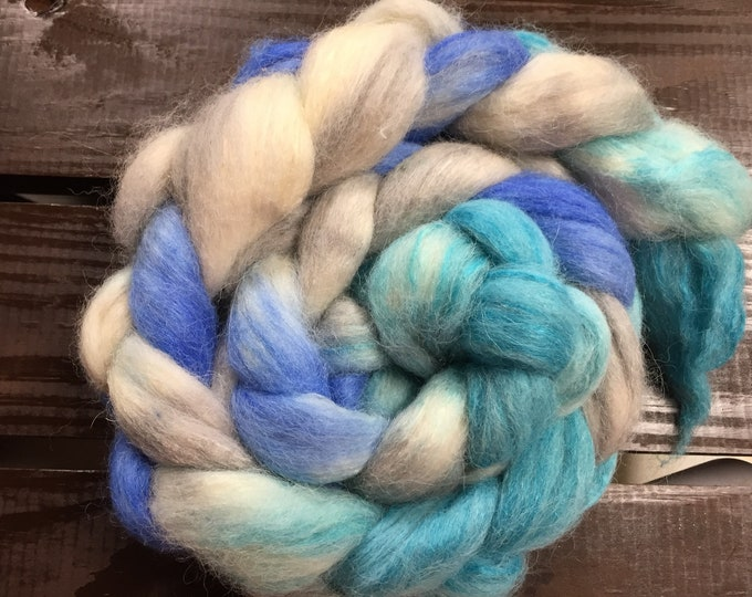 OBX - Hand Painted Alpaca/Tussah Silk combed top