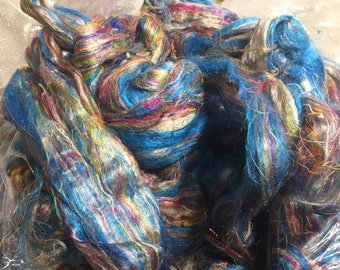 Coral Reef Sari Silk Combed Top by the ounce