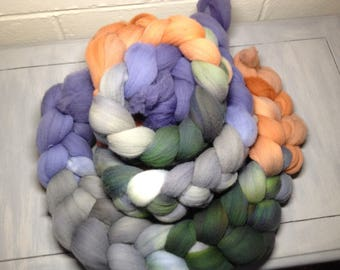 Koi Pond - Hand Dyed Targhee Roving