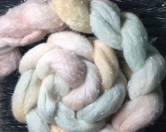 SOFT SUNSET 4 oz South American/Viscose Combed Top