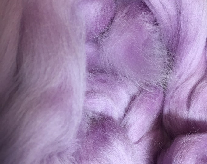Lavender Merino Combed Top by the ounce