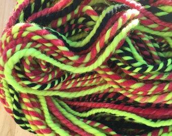 Elf Mischief Jumbo Art Yarn - 5 oz 2 ply hand dyed/commercial merino and falkland wool - yardage in description