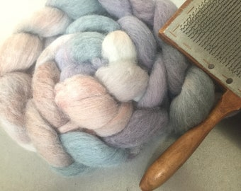 Heather Moon 4 oz Dyed Cheviot Combed Top