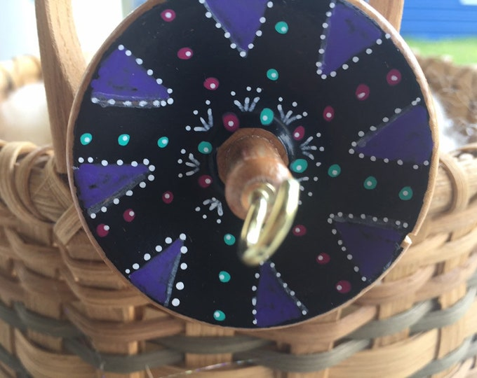 Vortex Hand Painted Drop Spindle OOAK