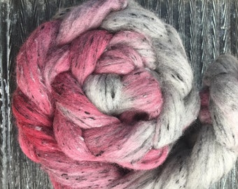 Blood Moon 4 oz South American/Viscose Combed Top