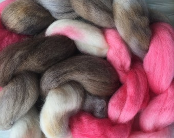 Cherry Cordial 4 oz South American Wool Combed Top