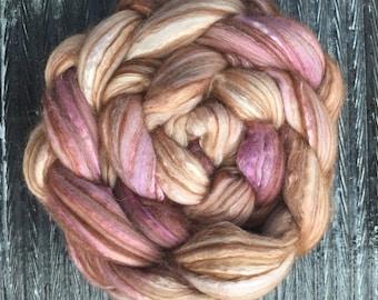 Witches Brew 4 oz Merino/Alpaca/Camel/Mulberry Silk Combed Top