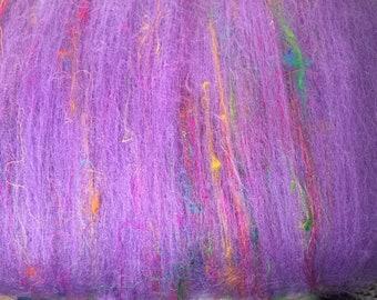 Purple Peony 3 oz spinning batt