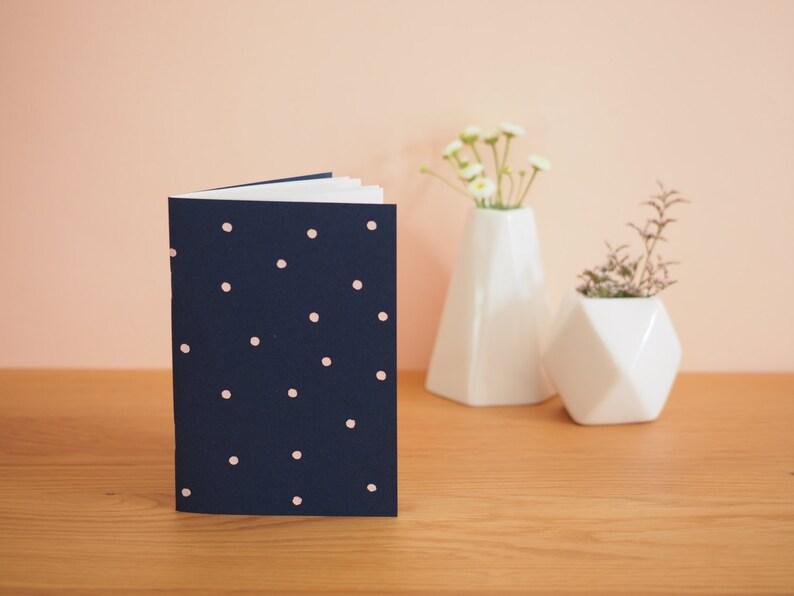 Navy Blue notebook Peas