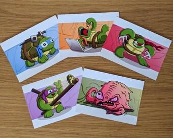 Ninja Turtles Print Pack, Leonardo, Michelangelo, Raphael, Donatello, TMNT, Teenage Mutant Ninja Turtles, Print Pack, Cartoon Prints,