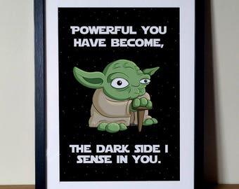 Star Wars Print, Movie Print, Yoda Print, Star Wars, Star Wars Poster, Yoda, Yoda Poster, Star Wars Digital Print, Movie Poster, Film Poster