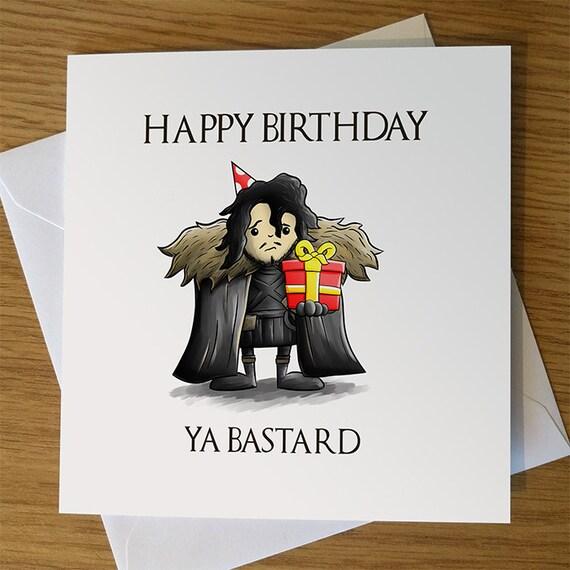 Game Of Thrones Birthday Card Jon Snow
